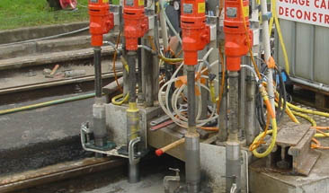 Group drilling on railway